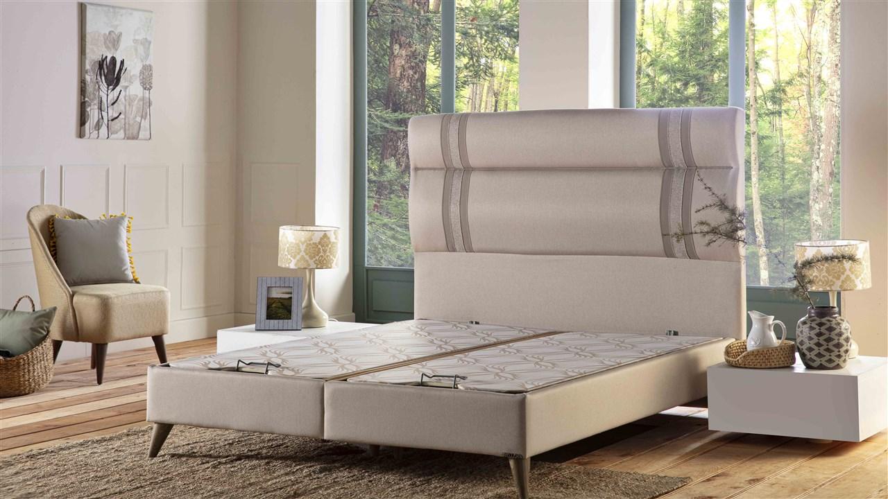 Natural Linen Baza pat + Tablie